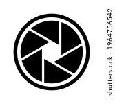 camera shutter icon. black... | Shutterstock .eps vector #1964756542