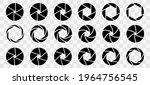 camera shutter icons isolated... | Shutterstock .eps vector #1964756545