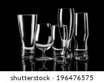 group of empty glasses...   Shutterstock . vector #196476575