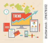 business trend illustration in... | Shutterstock .eps vector #196478102