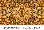 abstract orange floral print.... | Shutterstock .eps vector #1964781475