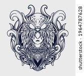 tattoo and t shirt design black ... | Shutterstock .eps vector #1964787628