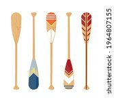 oars set isolated on a white... | Shutterstock .eps vector #1964807155