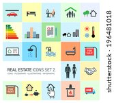 Vector Real Estate Icons Set...