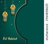 eid mubarak greeting card... | Shutterstock .eps vector #1964858635