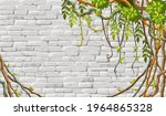 wall  branches liana  ivy....   Shutterstock .eps vector #1964865328