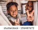 boys in thailand village. | Shutterstock . vector #196487672