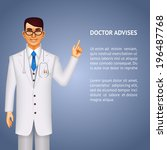 doctor dressed in a white lab... | Shutterstock . vector #196487768