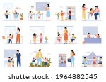 school pupils. students in...   Shutterstock .eps vector #1964882545