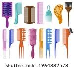 cartoon hair brushes. hair care ... | Shutterstock .eps vector #1964882578