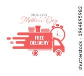 mother's day free delivery icon. | Shutterstock .eps vector #1964895982