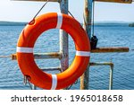 Lifebuoy Hanging On The Handle...