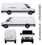 Stock vector white commercial vehicle van no 196503485