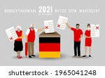 old and young people wearing... | Shutterstock .eps vector #1965041248