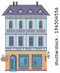 old house with a cafe on the...   Shutterstock . vector #196504556