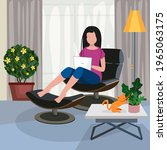 working at home  coworking...   Shutterstock .eps vector #1965063175