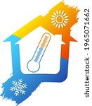 thermometer sun and snowflake... | Shutterstock .eps vector #1965071662