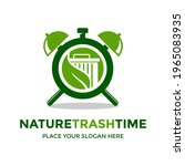nature trash time vector logo... | Shutterstock .eps vector #1965083935