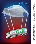 a oxygen tanker landing with... | Shutterstock .eps vector #1965107908