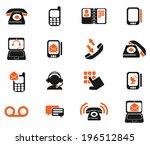 telephone icons | Shutterstock .eps vector #196512845