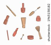 set of items from a women's...   Shutterstock .eps vector #1965158182