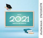class of 2021 congratulation... | Shutterstock .eps vector #1965181078