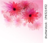 the nice illustration of pink...   Shutterstock .eps vector #196521452