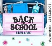 back to school vector concept... | Shutterstock .eps vector #1965226075