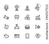 baby toys vector black icon set ... | Shutterstock .eps vector #196527512