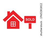 house sold property icon vector | Shutterstock .eps vector #1965281812