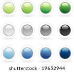 vector buttons in three colors | Shutterstock .eps vector #19652944