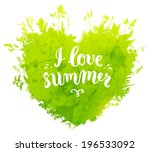 floral summer background with... | Shutterstock .eps vector #196533092