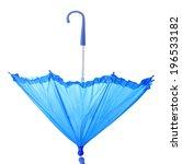 blue umbrella isolated on white | Shutterstock . vector #196533182