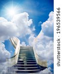 an stairway to heaven... | Shutterstock . vector #196539566