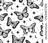 occult style magical butterfly...   Shutterstock .eps vector #1965407305