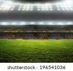 stadium with fans the night... | Shutterstock . vector #196541036
