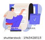 business man sign up smart or... | Shutterstock .eps vector #1965428515