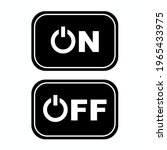 on of button black icon in flat ...