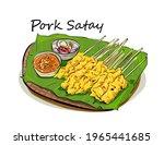 pork satay   grilled pork... | Shutterstock .eps vector #1965441685