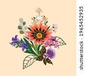 new digital flowers and leaves... | Shutterstock .eps vector #1965452935