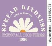 70s hippie spread kindness... | Shutterstock .eps vector #1965453778