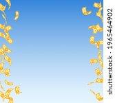 korean won notes falling....   Shutterstock .eps vector #1965464902