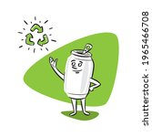 recycling of aluminum cans...   Shutterstock .eps vector #1965466708