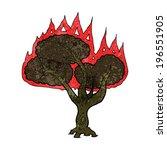 cartoon burning tree | Shutterstock .eps vector #196551905