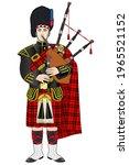 vector traditional of scottish...   Shutterstock .eps vector #1965521152