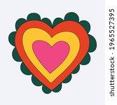 rainbow heart shape. romantic... | Shutterstock .eps vector #1965527395