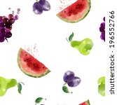 seamless fruits texture pattern ... | Shutterstock .eps vector #196552766