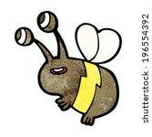 cartoon happy bee | Shutterstock .eps vector #196554392