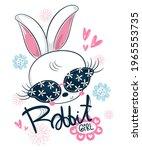 Beautiful Rabbit Girl Cartoon...