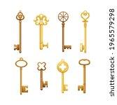 Vector Set Of Retro Keys In...